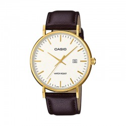 Reloj Casio Collection PVD Oro Amarillo Piel Marrón MTH-1060GL-7AER