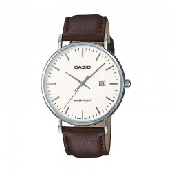 Reloj Casio Collection Acero Piel Marrón MTH-1060L-7AER