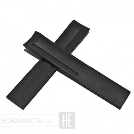 Correa Montblanc Caucho negro Sport 19 mm
