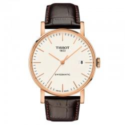 Reloj Tissot Everytime Swissmatic Correa Piel Marrón PVD Oro Rosa