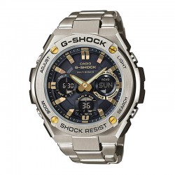 Reloj Casio G-Shock Analógico Digital G-Steel Negro Dorado Armis Bluetooth GST-W110D-1A9ER