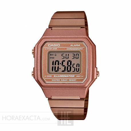 ba60f5799927 Reloj Casio Collection Digital Armis Oro Rosa B650WC-5AEF. Oferta