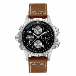 Reloj Hamilton Khaki Aviation X-Wind Auto Chrono Negro Piel Marrón