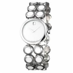 Reloj Movado Museum Lady Blanco Armis Circulos Cuarzo 30 mm.