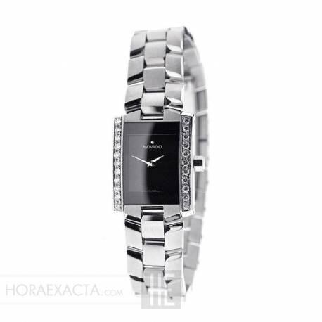 7e8736ee40b8 Reloj Movado Eliro Lady Negro Armis Cuarzo Diamantes 22x25 mm. OUTLET.