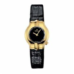 Reloj Tag Heuer Alter Ego Mini Oro Amarillo 18K. Lady Negro Piel. OUTLET *