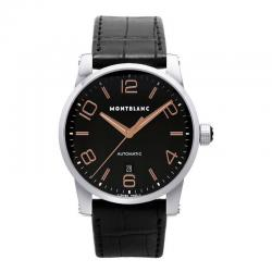 Reloj Montblanc TimeWalker Automatic Negro Piel Negra 42 mm. OUTLET *