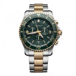 Reloj Victorinox Maverick Chronograph Verde Bicolor Armis 43 mm