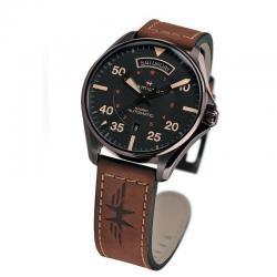 Reloj Hamilton Khaki Pilot Auto Negro Piel Marrón PVD Negro 42 mm