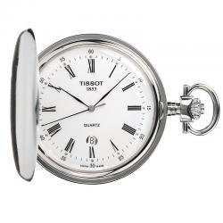 Reloj Tissot Bolsillo Savonette Cuarzo Tapa + Cadena
