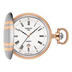 Reloj Tissot Bolsillo Savonette Cuarzo Tapa bicolor + Cadena
