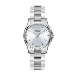 Reloj Hamilton Jazzmaster Lady Auto Armis Azul Cielo Diamantes