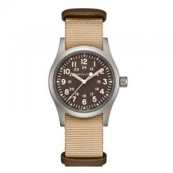 Reloj Hamilton Khaki Field Mechanical Marrón Nato beige Marrón 38 mm