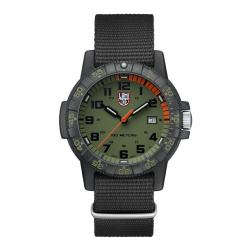 Reloj Luminox Leatherback Sea Turtle Giant Khaki Naranja Nato 39 mm.