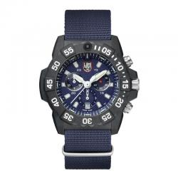 Reloj Luminox Navy Seal Azul Crono Nato 45 mm.