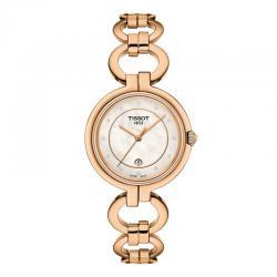 Reloj Tissot Flamingo Nacar Blanco Diamantes Armis PVD Oro Rosa