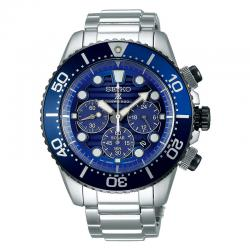 Reloj Seiko Prospex Solar Crono Special Edition Save The Ocean Azul Armis 44 mm.