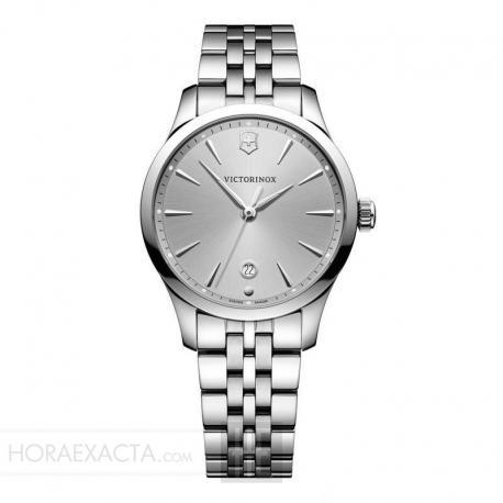 Reloj Victorinox Alliance Small Gris Plata Cuarzo Armis 35 mm.
