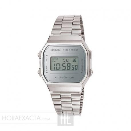 Reloj Casio Collection Digital Armis Acero Mirror Claro A168WEM-7EF
