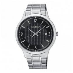 Reloj Seiko Neo Classic Cuarzo Negro Armis 41 mm. SGEH81P1