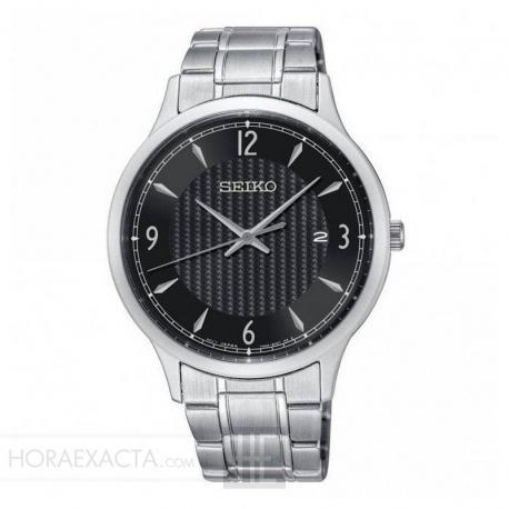 413ac2cb1 Reloj Seiko Neo Classic Cuarzo Negro Armis 41 mm. SGEH81P1. Elegante