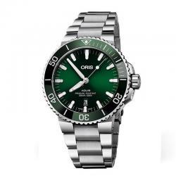 Reloj Oris Aquis Date Armis Verde. 01 733 7730 4157