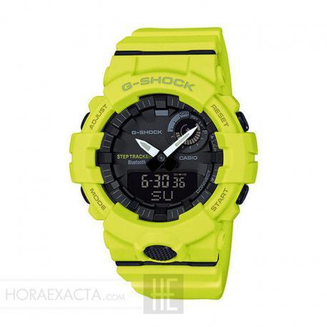 889a746b48ac Reloj Casio G-Shock Verde Limón Analógico Digital GBA-800-9AER. Nuevo