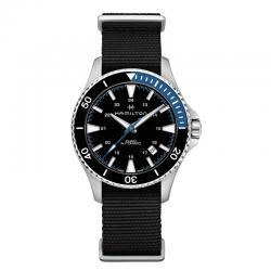 Reloj Hamilton Khaki Navy Scuba Auto NATO Bisel negro / Azul 40 mm.