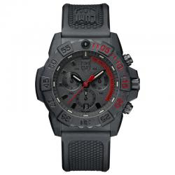Reloj Luminox Navy Seal Negro Crono Caucho 45 mm.