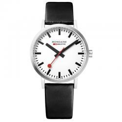 Reloj Mondaine Classic Blanco Piel Negra 36 mm. A660.30314.16SBB