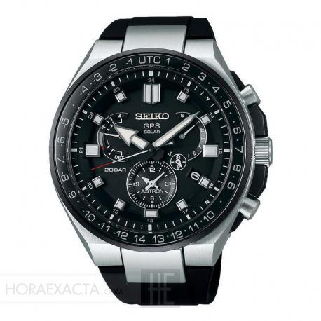 Reloj Seiko Astron Executive Sport GPS Solar Negro Silicona Negra SSE169J1