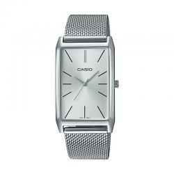 Reloj Casio Lady Rectangular Cuarzo Milanesa. LTP-E156M-7AEF