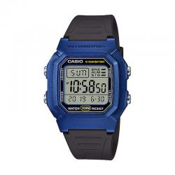 Reloj Casio Collection Digital Azul Resina Negra W-800HM-2AVEF