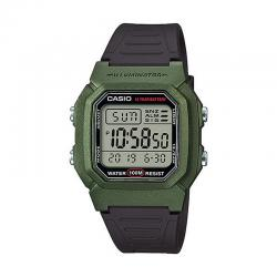 Reloj Casio Collection Digital Verde Resina Negra W-800HM-3AVEF