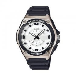 Reloj Casio Collection Analógico Blanco Resina Negra MWC-100H-7AVEF