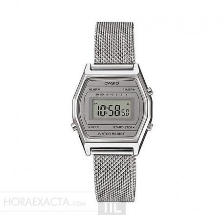Reloj Casio Collection Digital Pequeño Milanesa Gris LA690WEM-7EF