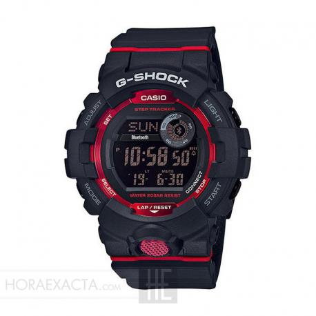 14a72328b101 Reloj Casio G-Shock Digital Bluetooth Negro Rojo GBD-800-1ER. Nuevo