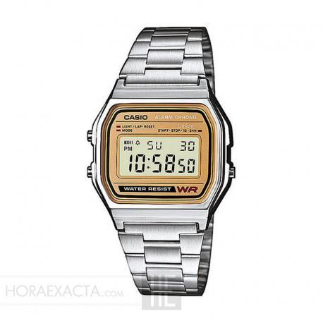 Reloj Casio Collection Digital Armis Acero/Dorado A158WEA-9EF