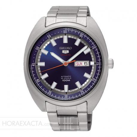 Reloj Seiko 5 Sports Auto Day date Azul Armis 44 mm. SRPB15K1