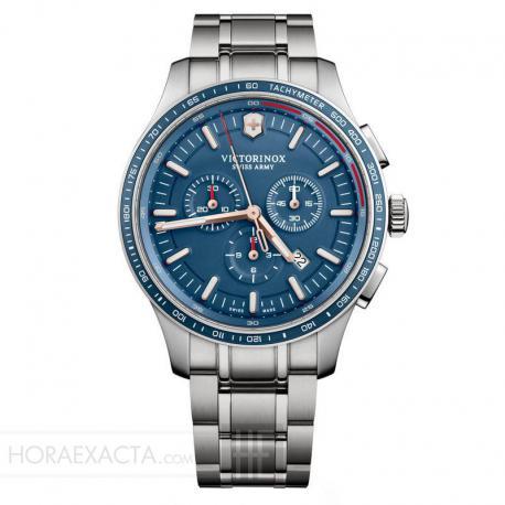 Reloj Victorinox Alliance Sport Crono acero armis azul. V241817