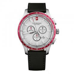 Reloj Victorinox Alliance Sport Crono acero esfera plata. 241819