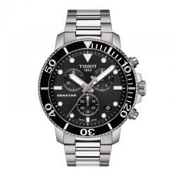 Reloj Tissot Seastar 1000 Chronograph Negro armis acero.