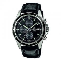 Reloj Casio Edifice Negro Piel Negra Crono EFR-526L-1AVUEF