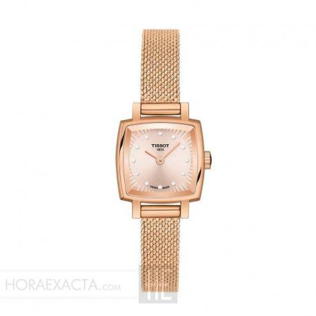 Reloj Tissot Lovely Square Diamantes PVD Oro Rosa Armis