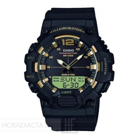 Reloj Casio Collection Analógico Digital Negro / Dorado Resina HDC-700-9AVEF