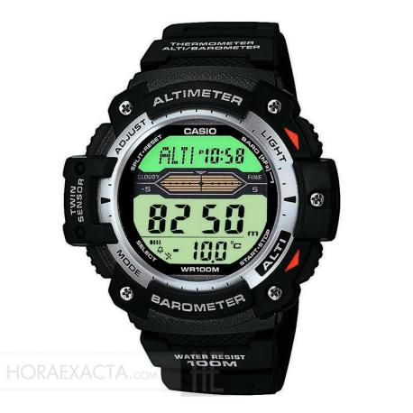 Reloj Casio Collection Digital Negro Altímetro Barómetro Termómetro SGW-300H-1AVER