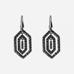 Joyería Karl Lagerfeld. Pendientes Essential Cristales Negros Swarovski®