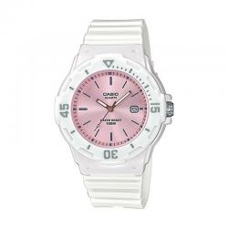 Reloj Casio Collection Analógico Blanco / Rosa Resina LRW-200H-4E3VEF