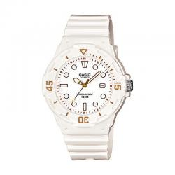 Reloj Casio Collection Analógico Blanco / Dorado Resina LRW-200H-7E2VEF