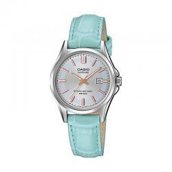 Reloj Casio Collection Analógico Azul Cielo Piel LTS-100L-2AVEF
